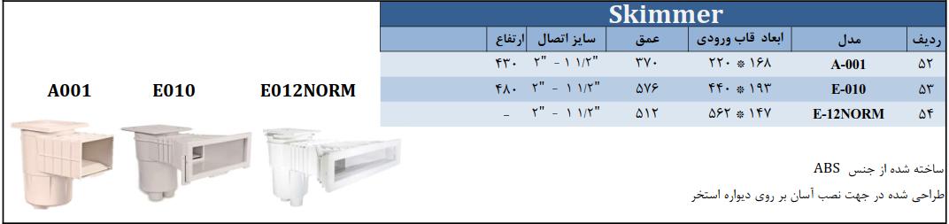 دستگاه اسکیمر استخر و جکوزی